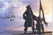 Автограф: Джонни Депп, (Пираты карибского моря)