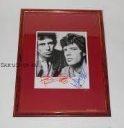 Автографы: The Rolling Stones. Мик Джаггер, Кит Ричардс. Фото 1983 года. Редкость